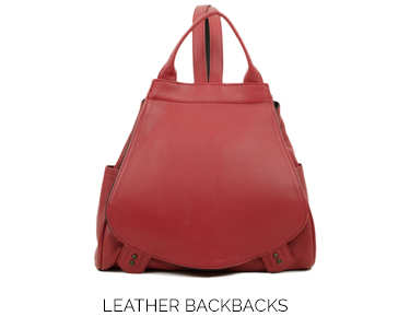 home LEATHERbackpack reddahlia