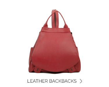 home LEATHERbackpackdahlia red