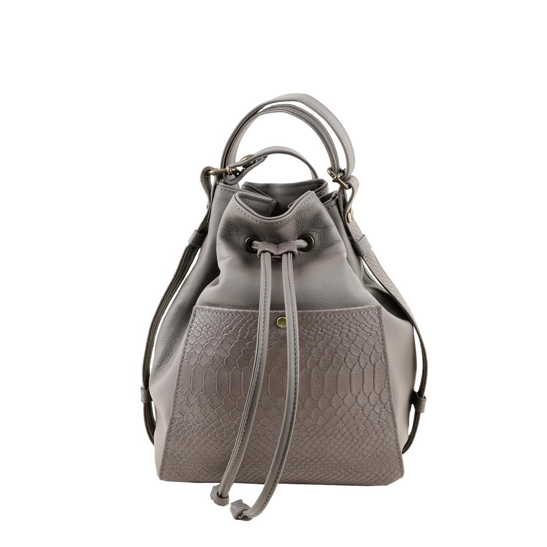 Jenny grigio across body leather bag