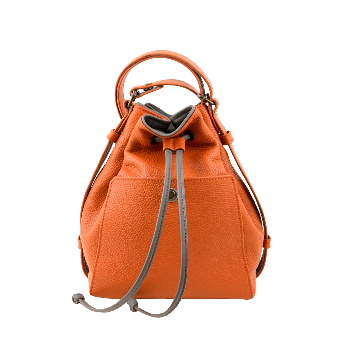 Jenny orange across body leather bag