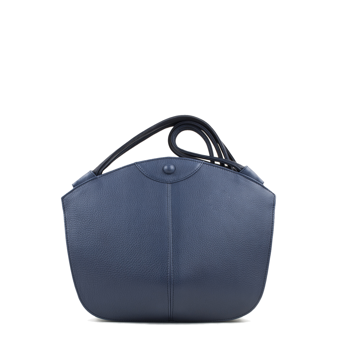 Carmen Chalk Blue Leather Shoulder Bag