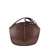 Carmen Dark Brown Leather Shoulder Bag