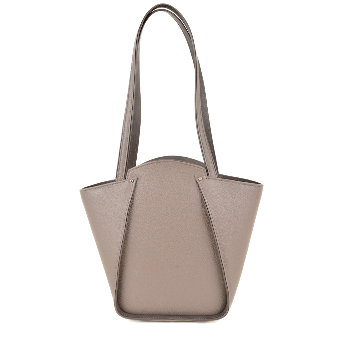 Greta Zinco Structured Leather Shoulder Bag