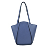 Greta Chalk Blue Structured Leather Shoulder Bag