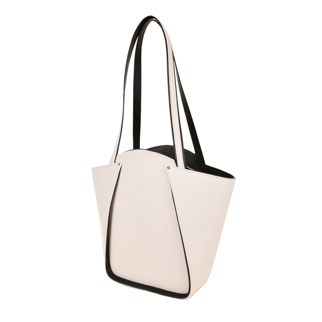 Greta Polvere Structured Leather Shoulder Bag