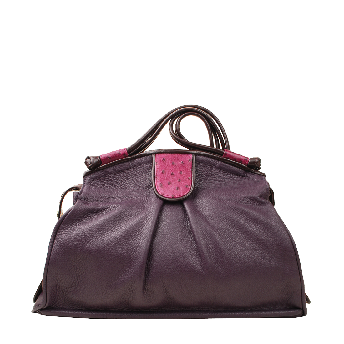 Jessica Magenata Leather Shoulder Bag