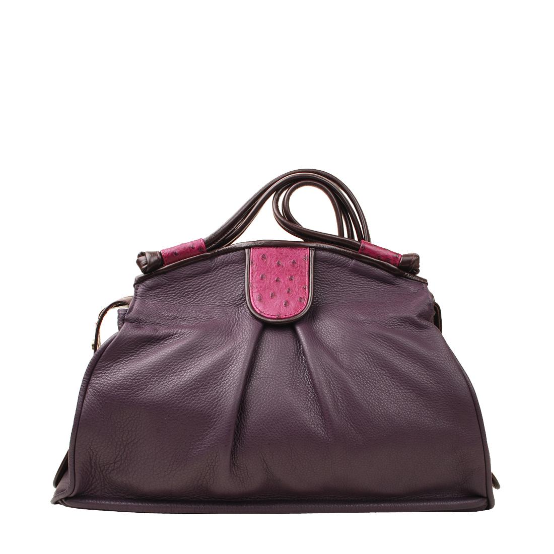 Jessica Magenata Leather Shoulder Bag