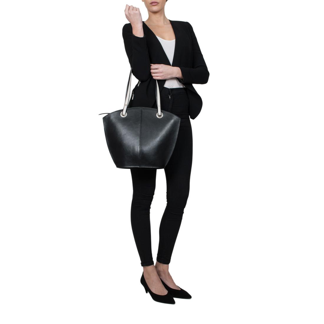Audrey Teal Leather Shoulder Bag