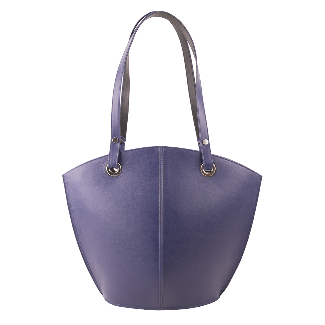 Audrey Purple Blue /Black Leather Shoulder Bag