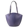 Audrey Purple Blue /Black Leather Shoulder Bag