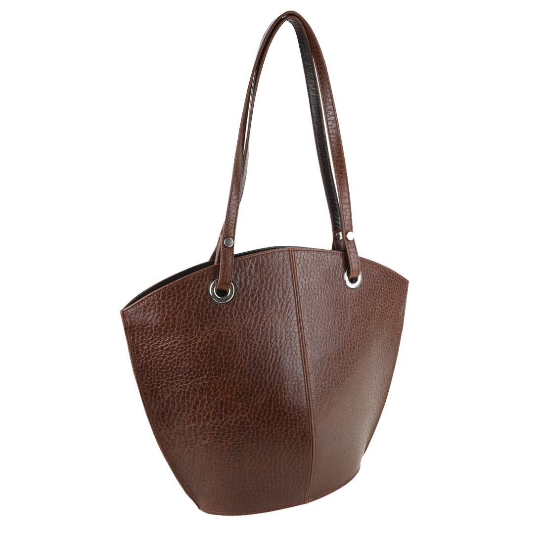 Audrey Dark Brown Leather Tote Bag