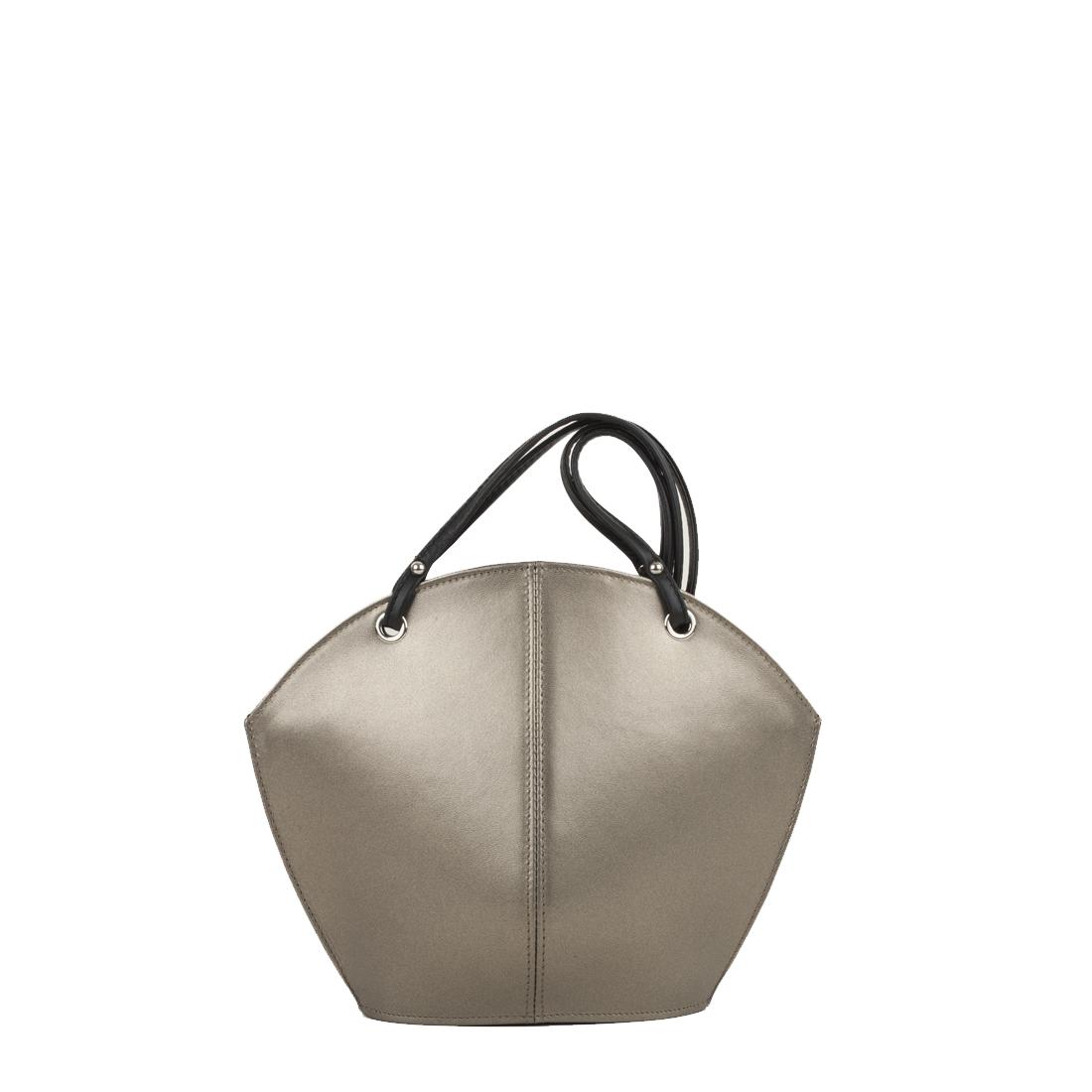 Ava Bronze Leather Shoulder Bag