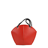 Ava Orange Leather Shoulder Bag