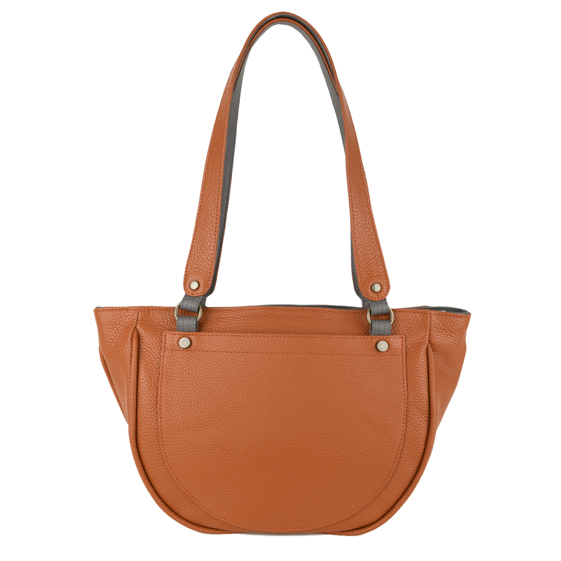Becky Burnt Orange Leather Shoulder Bag