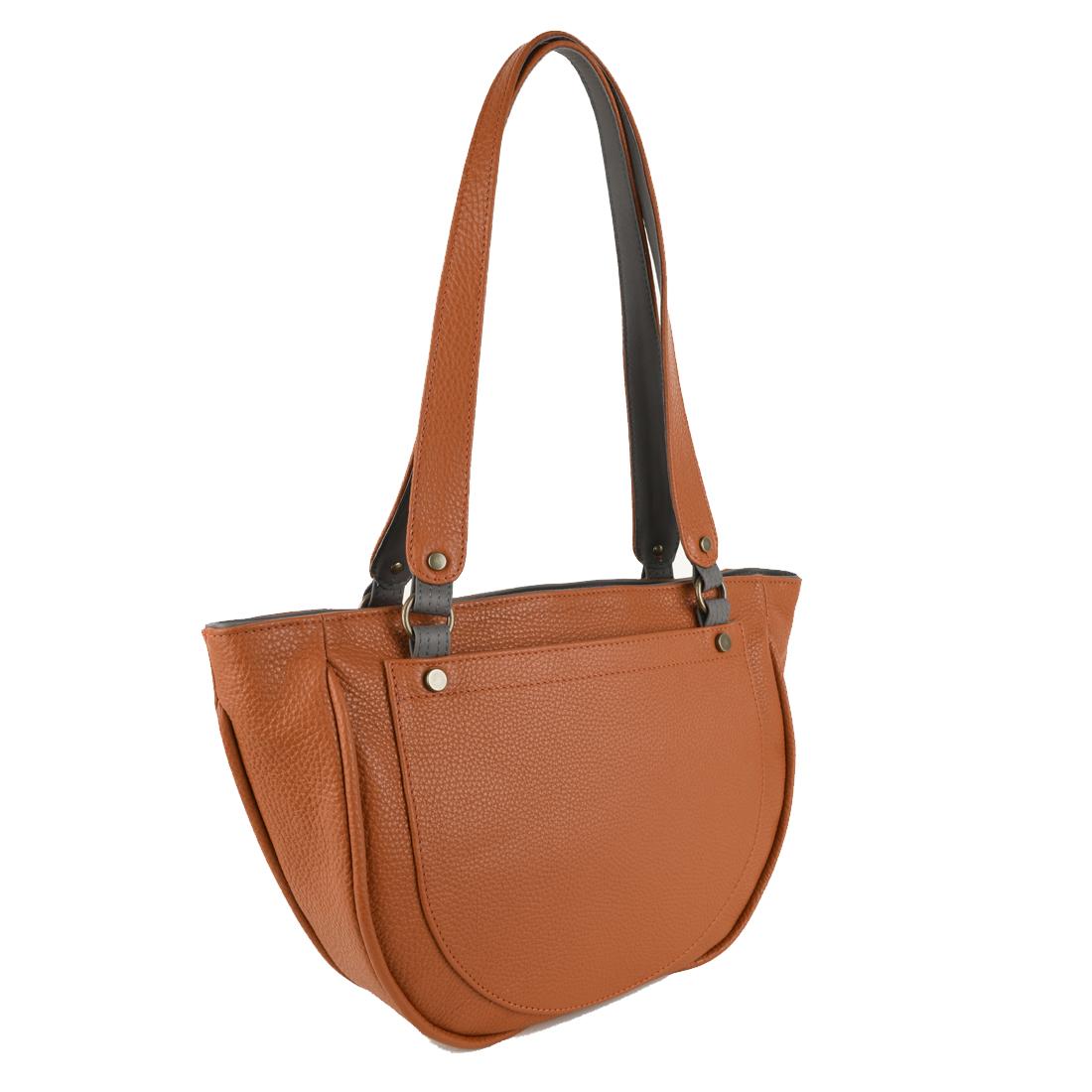 Becky Burnt Orange Leather Shoulder Bag