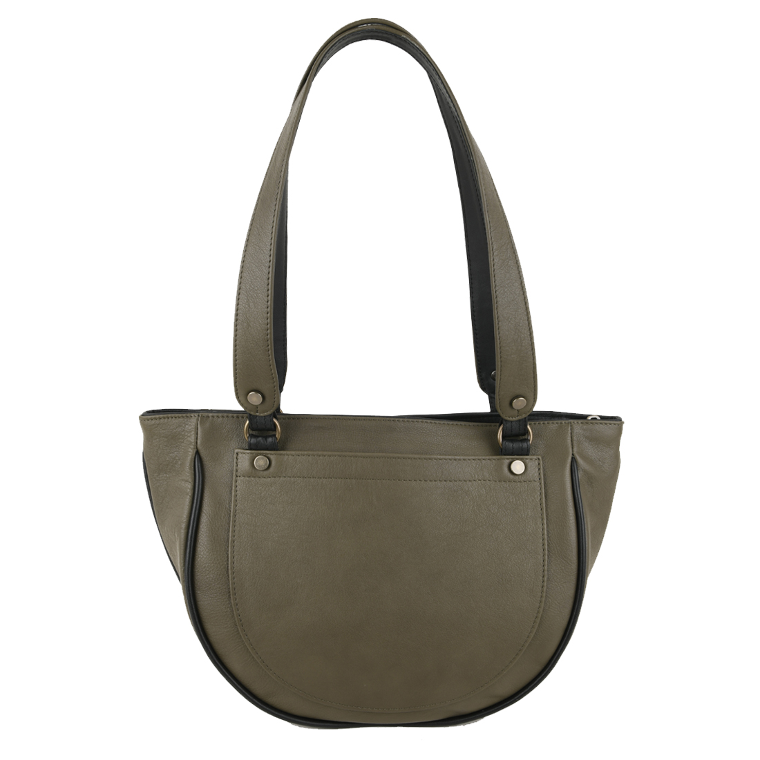 Becky Kiwi Leather Shoulder Bag