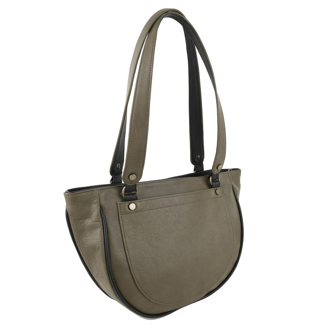 Becky Kiwi Leather Shoulder Bag