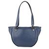 Becky Navy Blue Leather Shoulder Bag