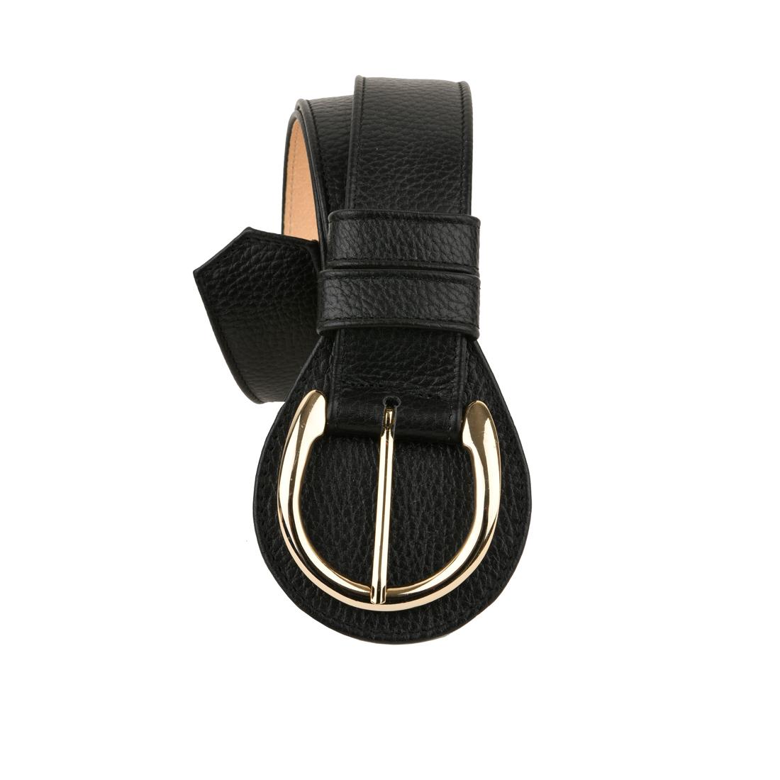 Black Horseshoe Belt