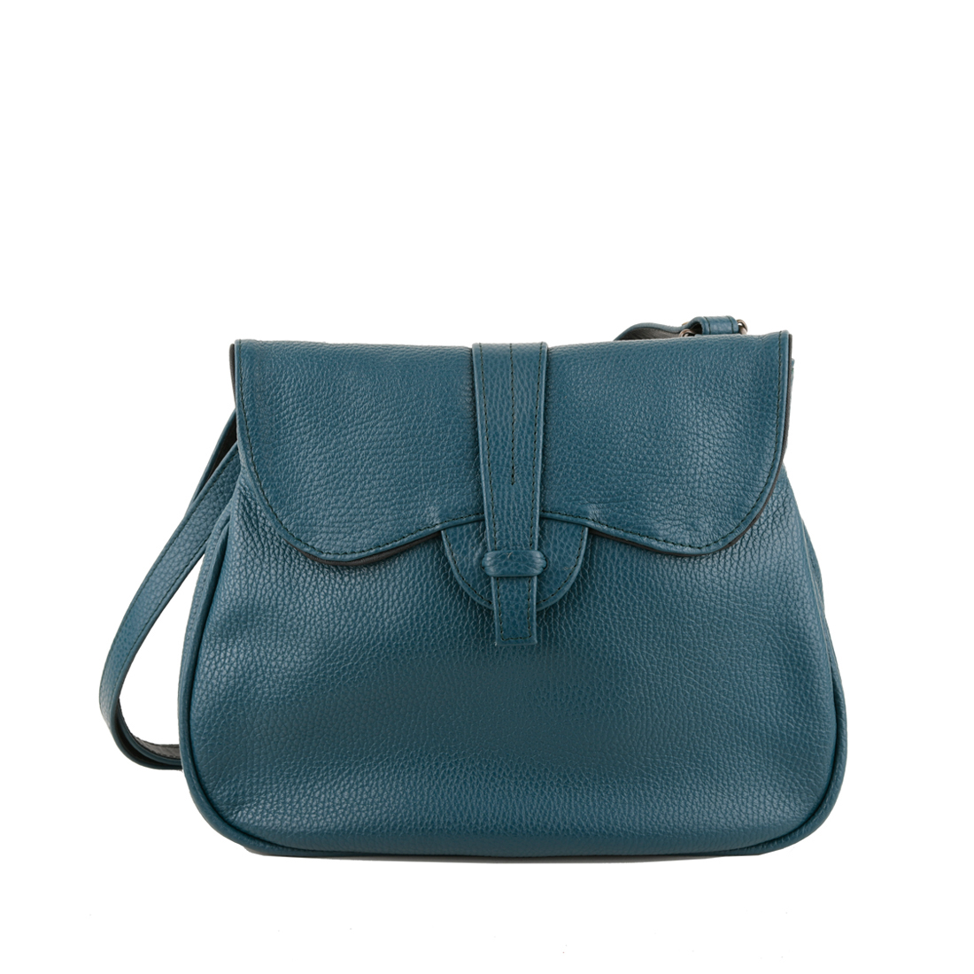 Beth Teal Across Body Leather Bag