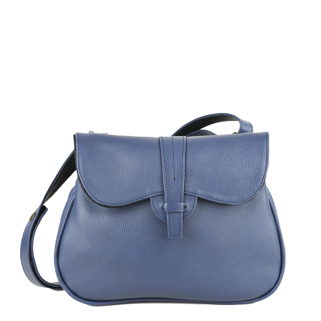 Beth Chalk Blue Across Body Leather Bag