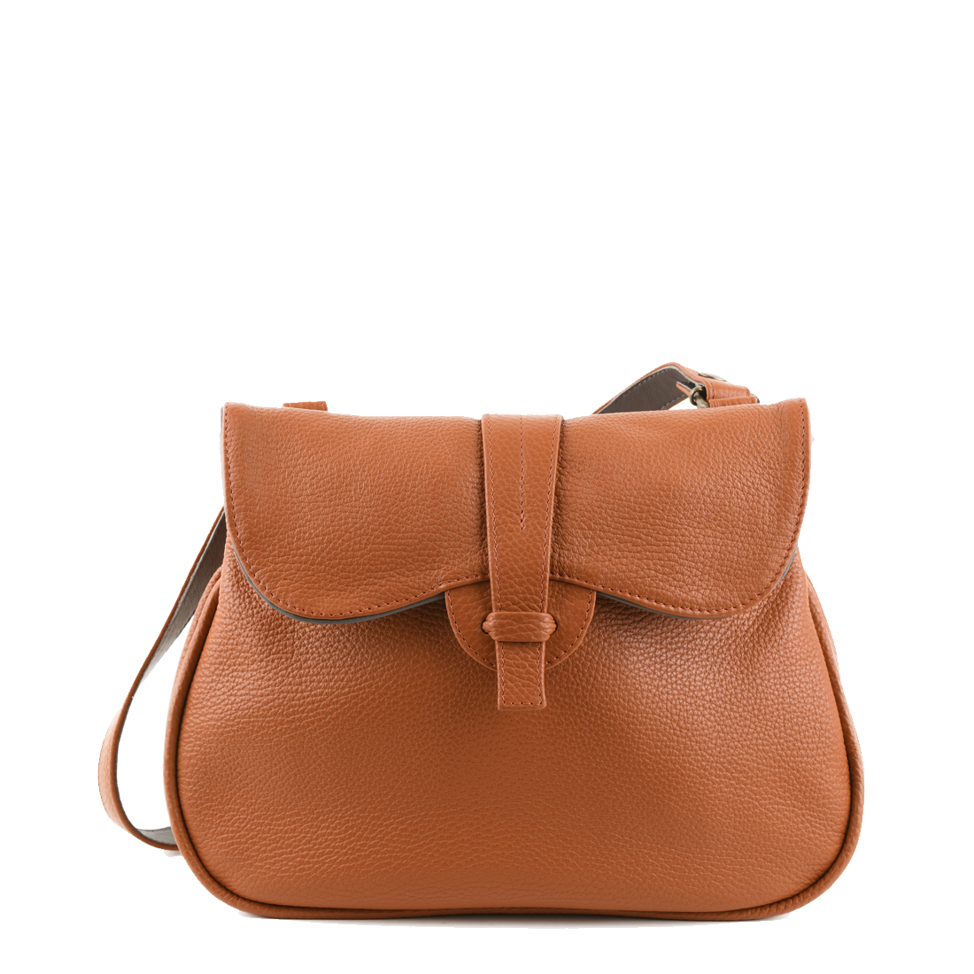 Beth Burnt Orange Across Body Leather Bag