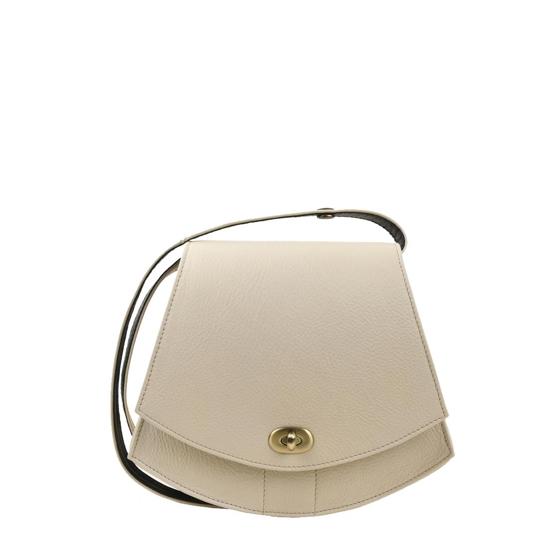 Bonnie Ivory Leather Shoulder Bag