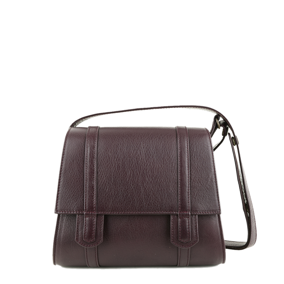 Chloe Plum Across Body Leather Bag