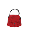 Clara Red Ostrich print Leather Shoulder Bag