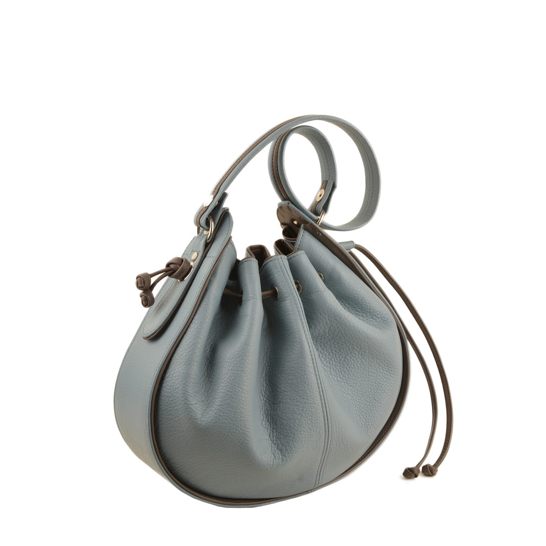 Daisy Niagra Taupe Leather Shoulder Bag