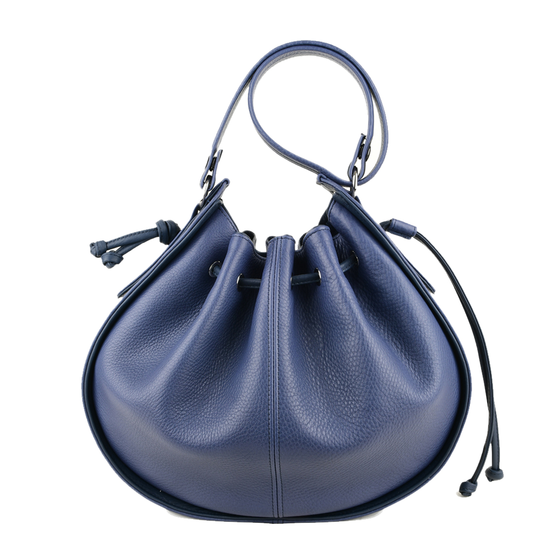Daisy Chalk Blue Leather Shoulder Bag