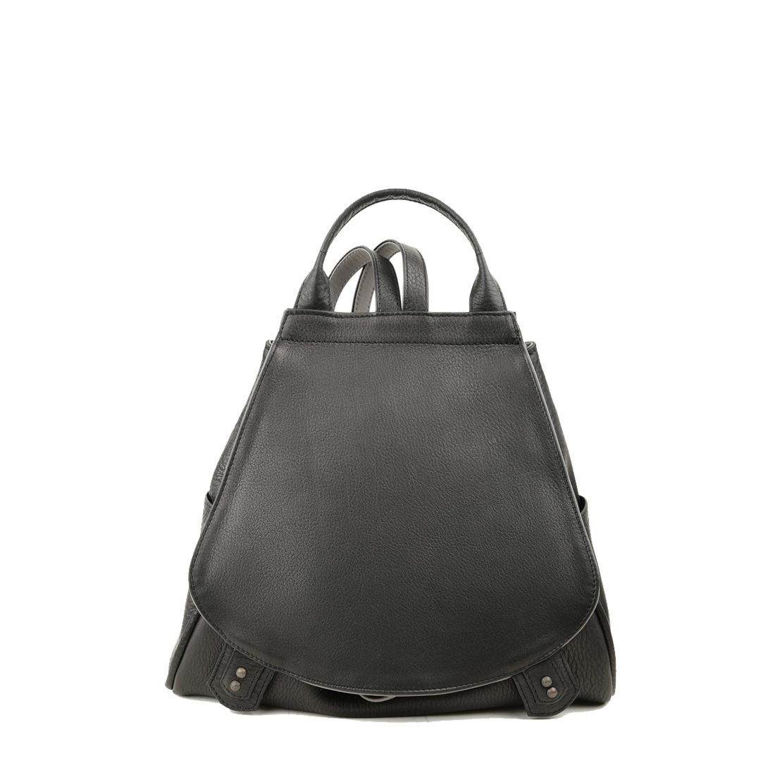 Daliya Black Grigio Leather Backpack