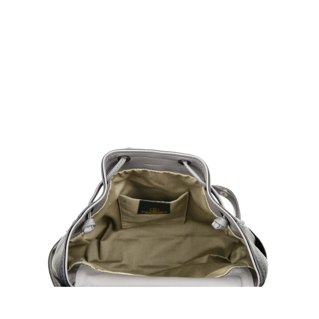Daliya Black Grigio Leather Backpack