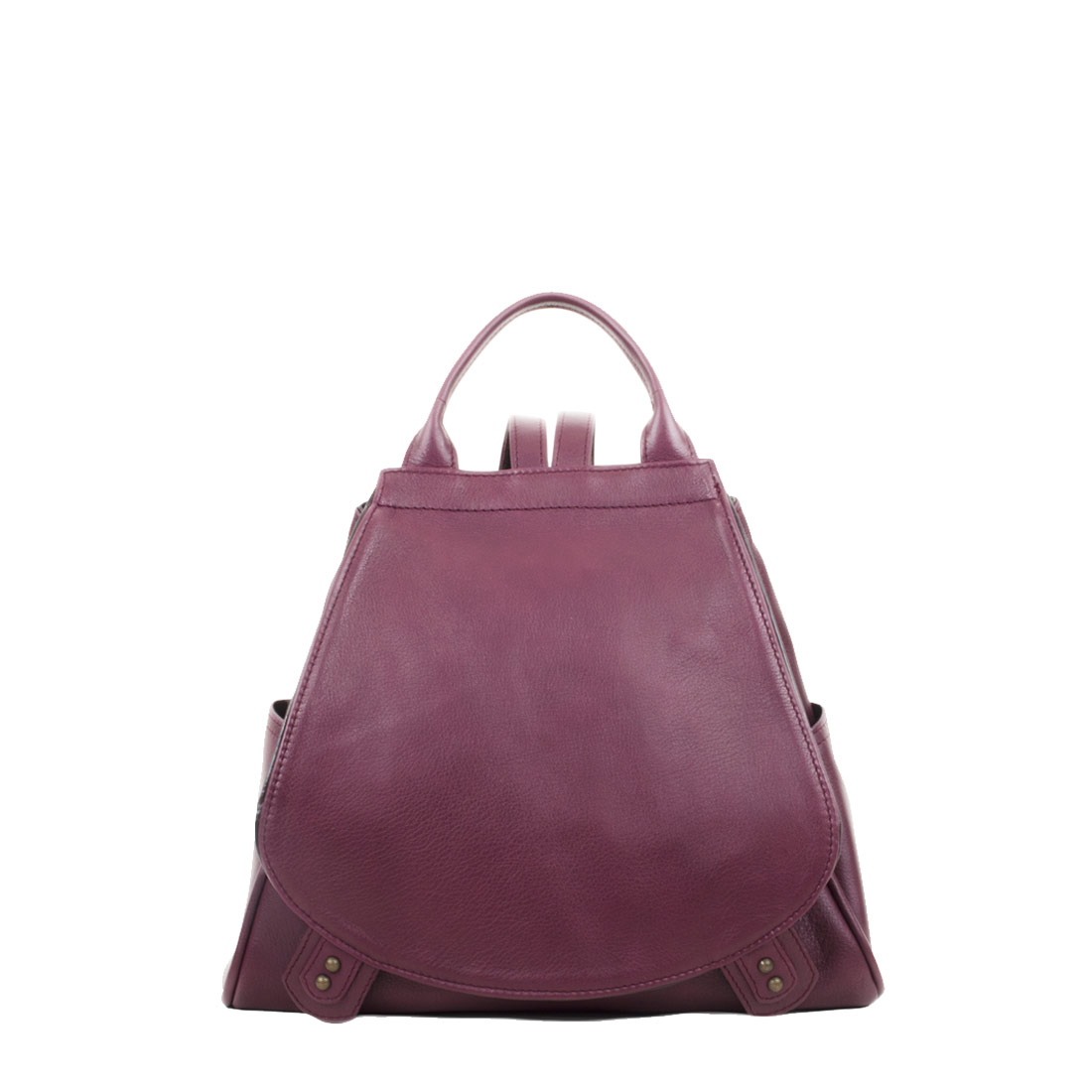 Daliya Plum Leather Backpack