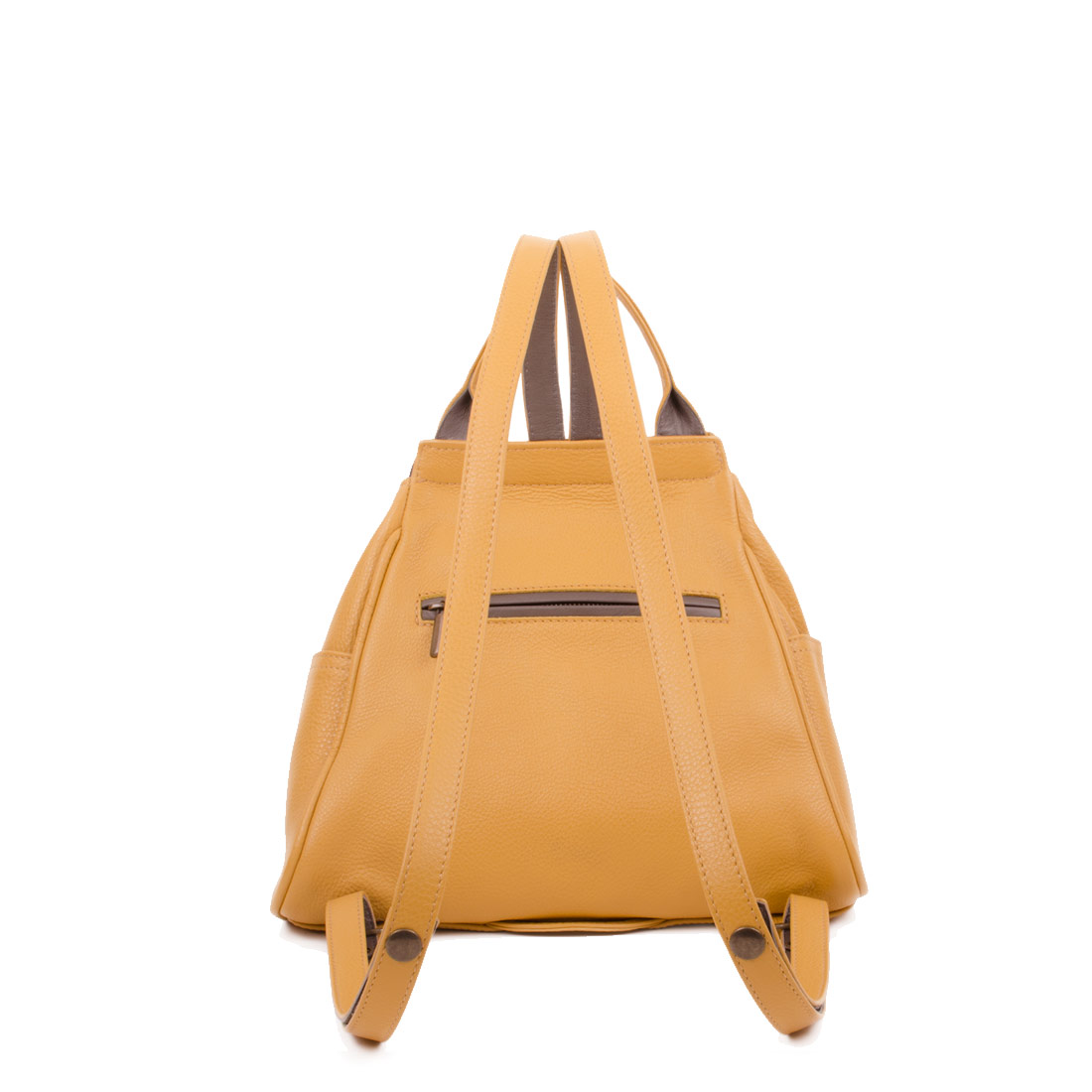 Daliya Mustard Leather Backpack