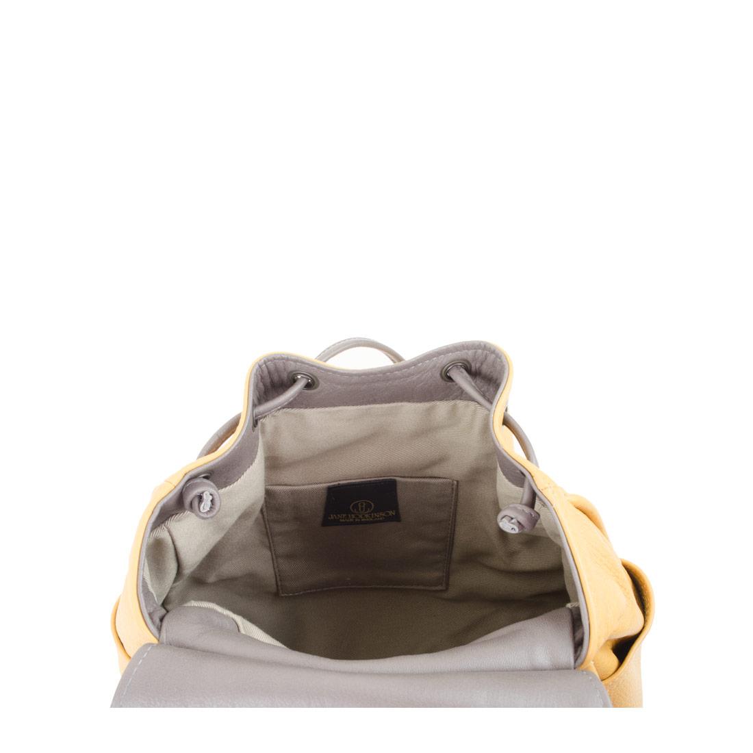 Daliya Mustard Leather Backpack