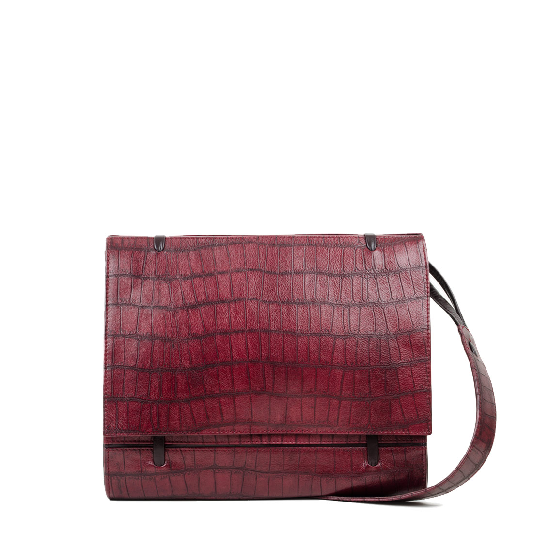 Elsa Burgundy Print Across Body Bag