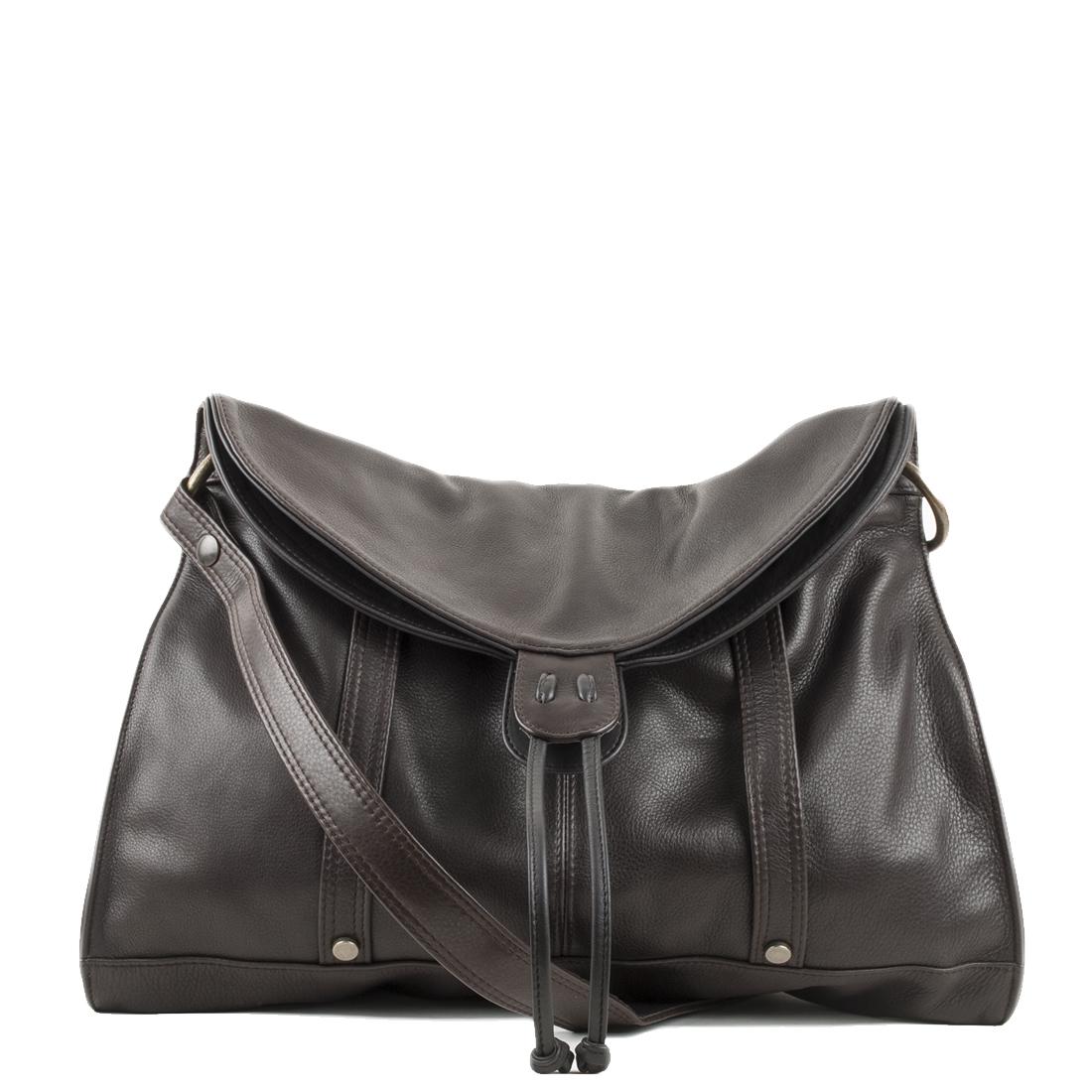 Esther Brown Leather Shouler Bag