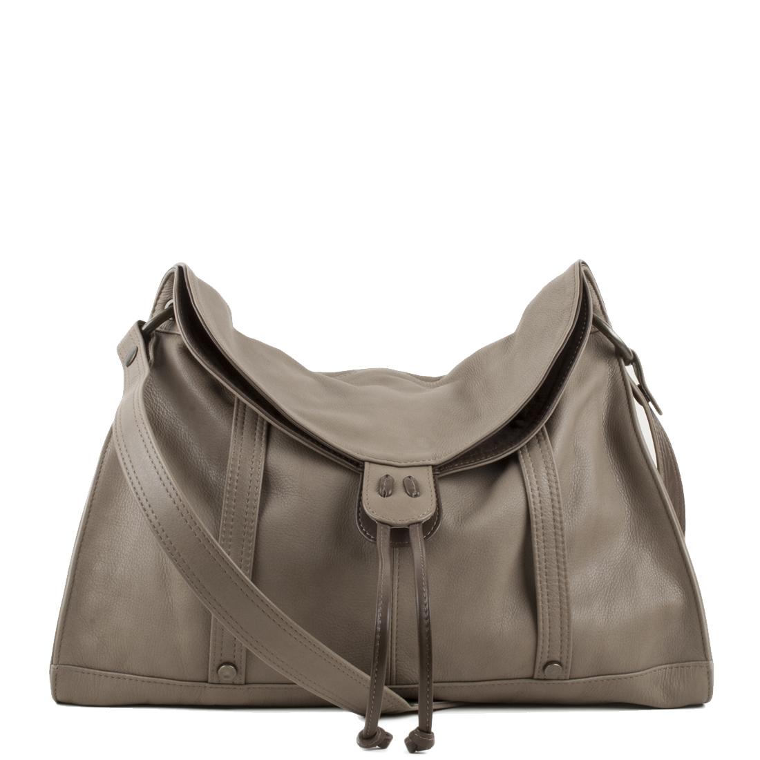 Esther Taupe Leather Shoulder Bag