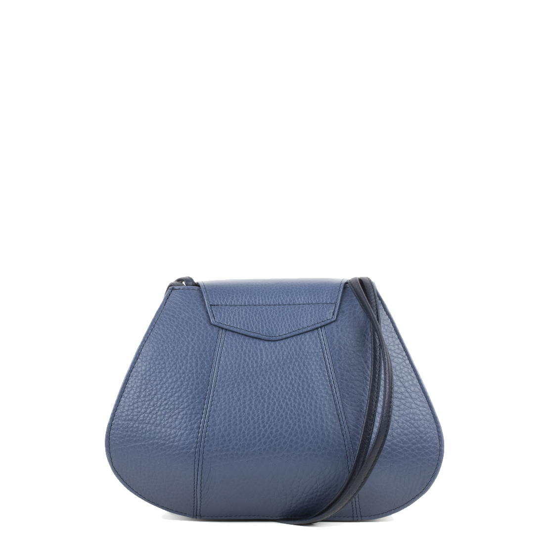 Florence Chalk Blue Leather Shoulder Bag
