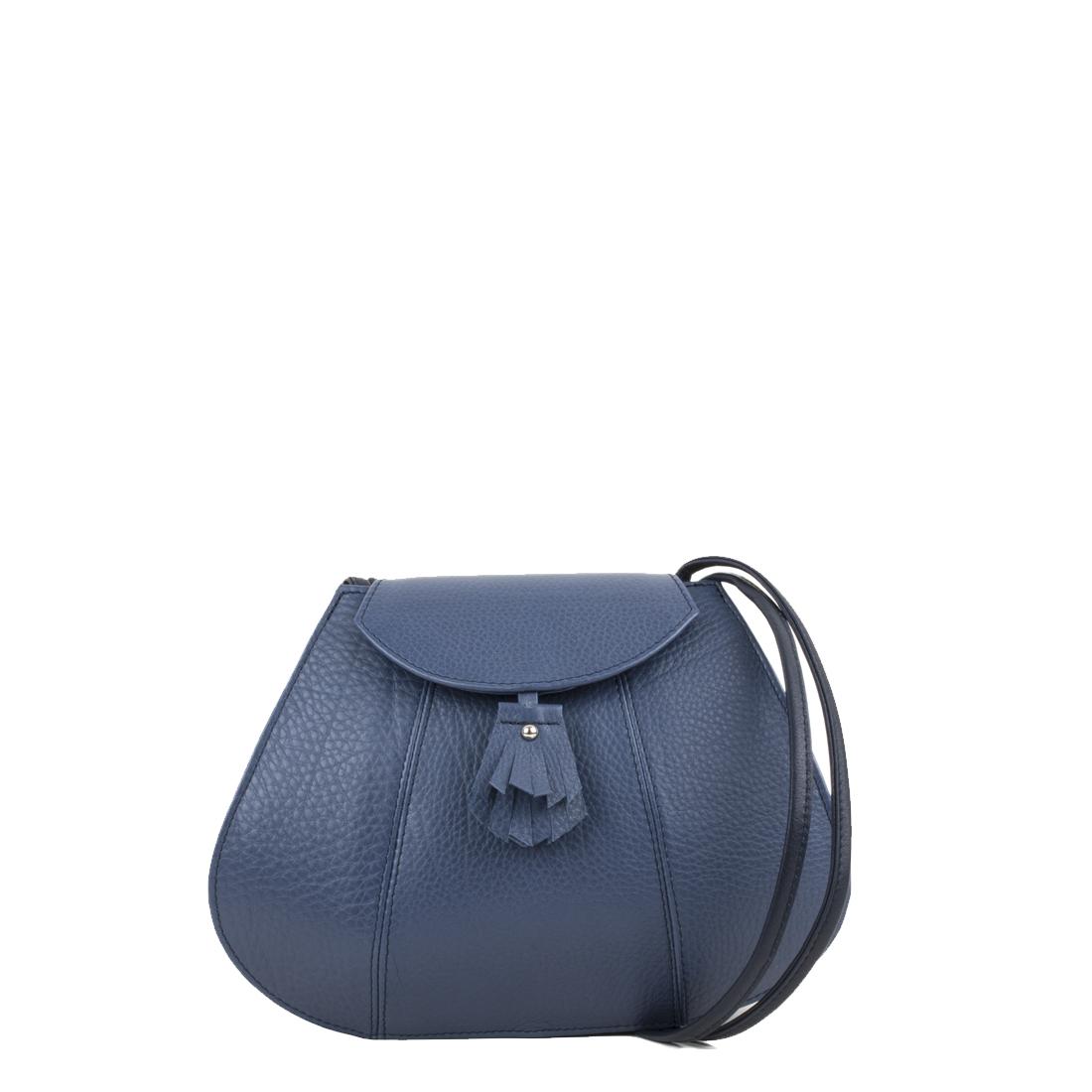 Florence Chalk Blue Leather Shoulder Bag