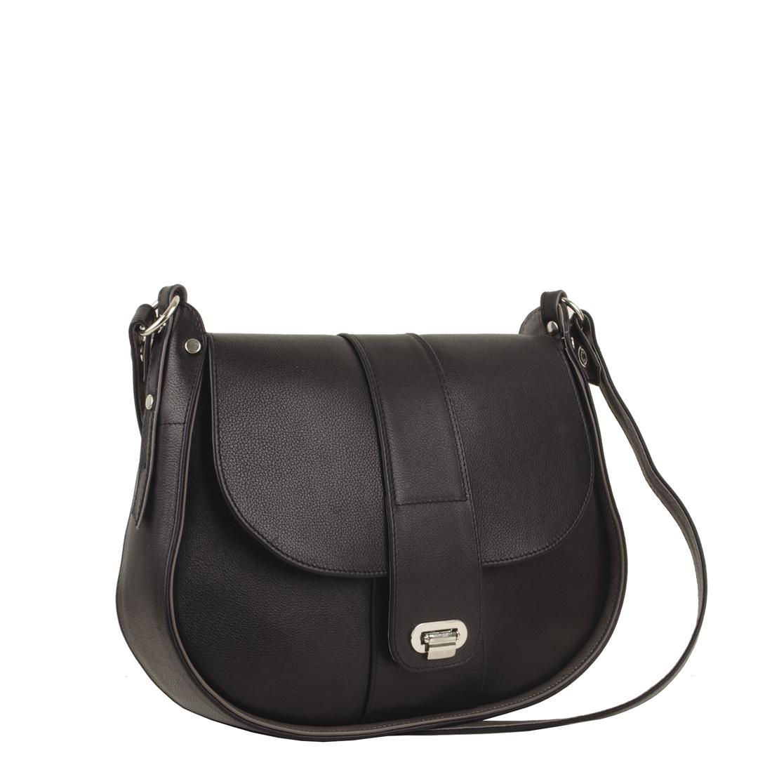 Freya Black Across Body Bag