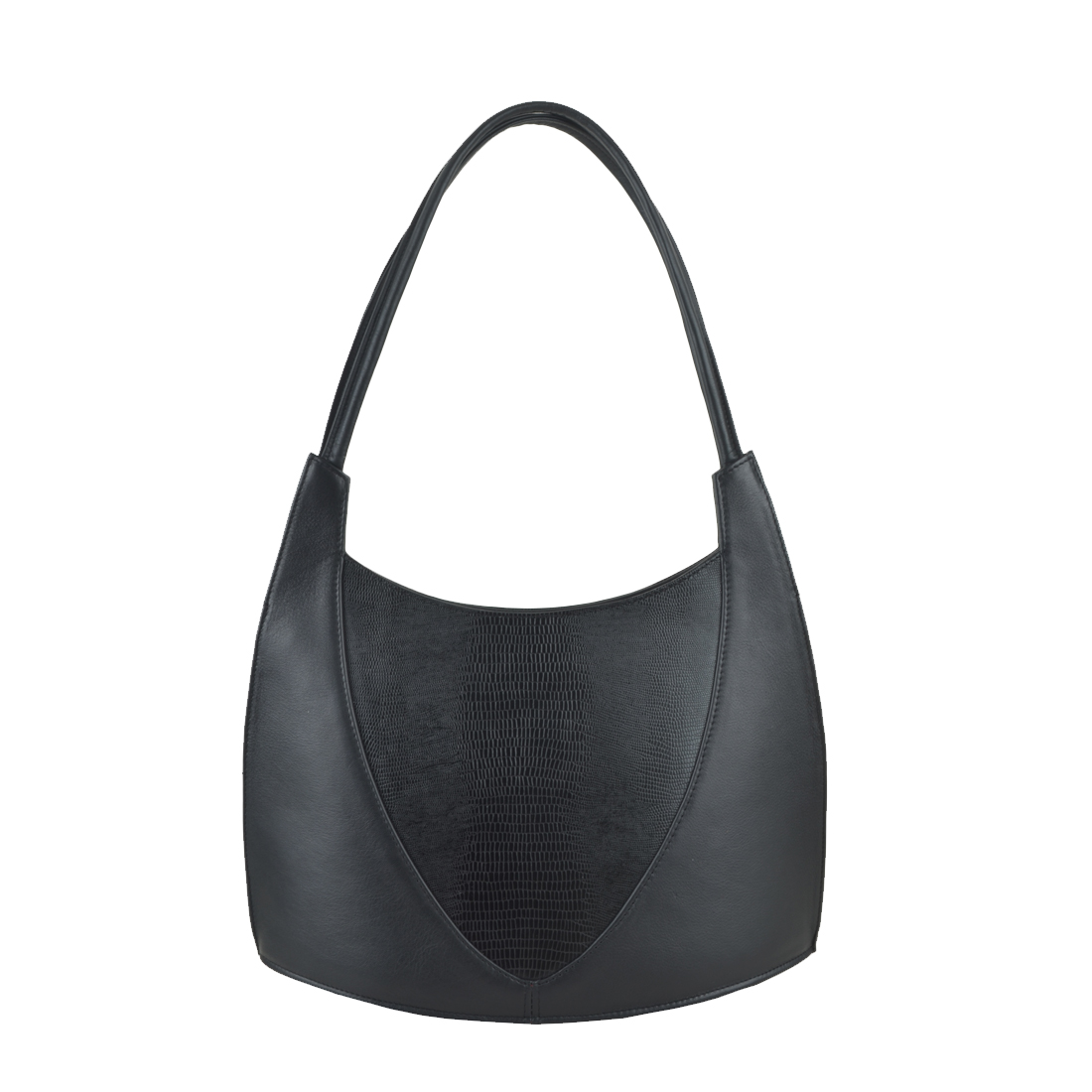 Frida Black Print Leather Shoulder Bag
