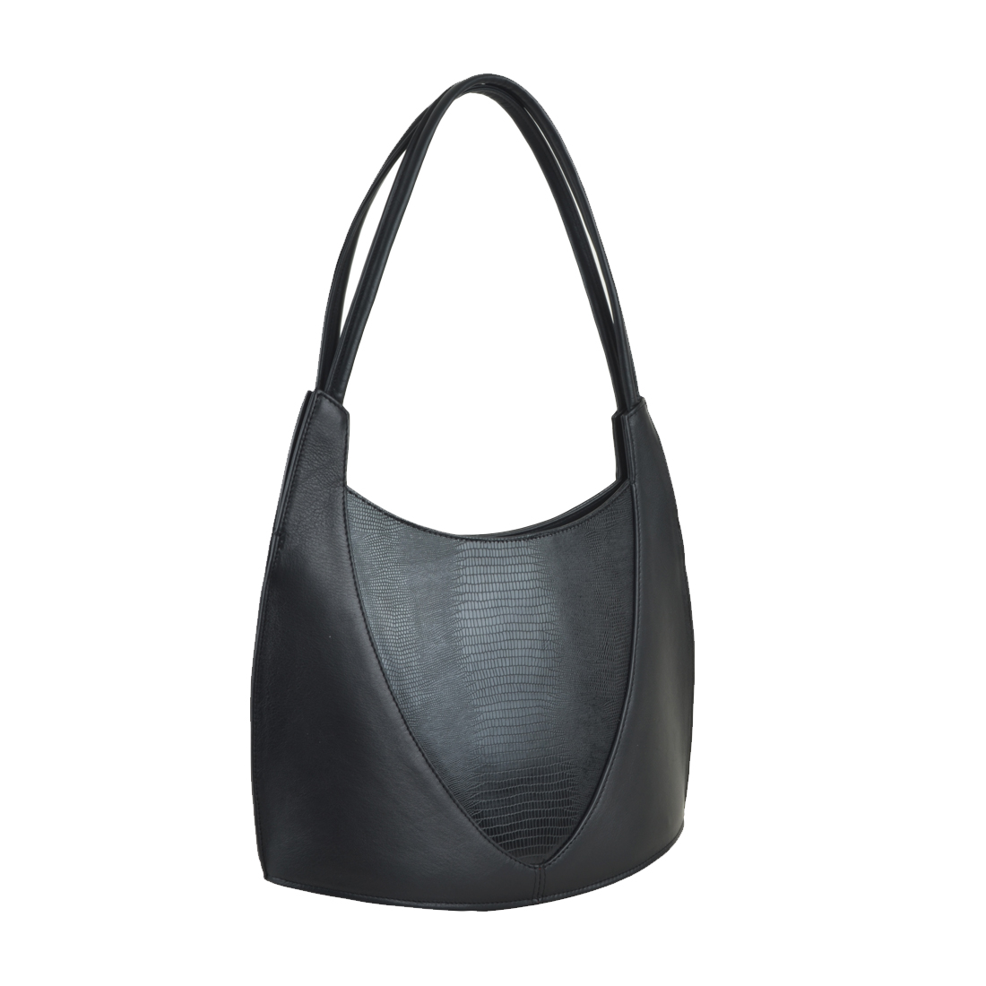Frieda Black Print Leather Shoulder Bag