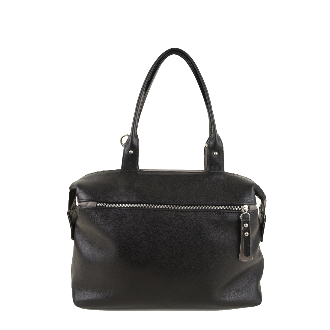 Grace Black Grigio Leather Tote Bag