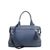 Grace Chalky Blue Leather Tote Bag