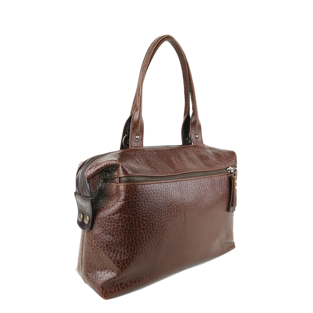Grace Dark Brown Leather Tote Bag