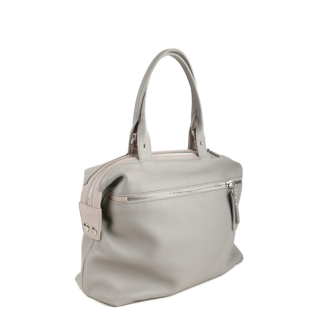 Grace Plaster Leather Tote Bag