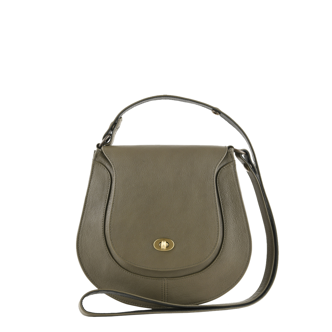 Hattie Olive Leather Shoulder Bag