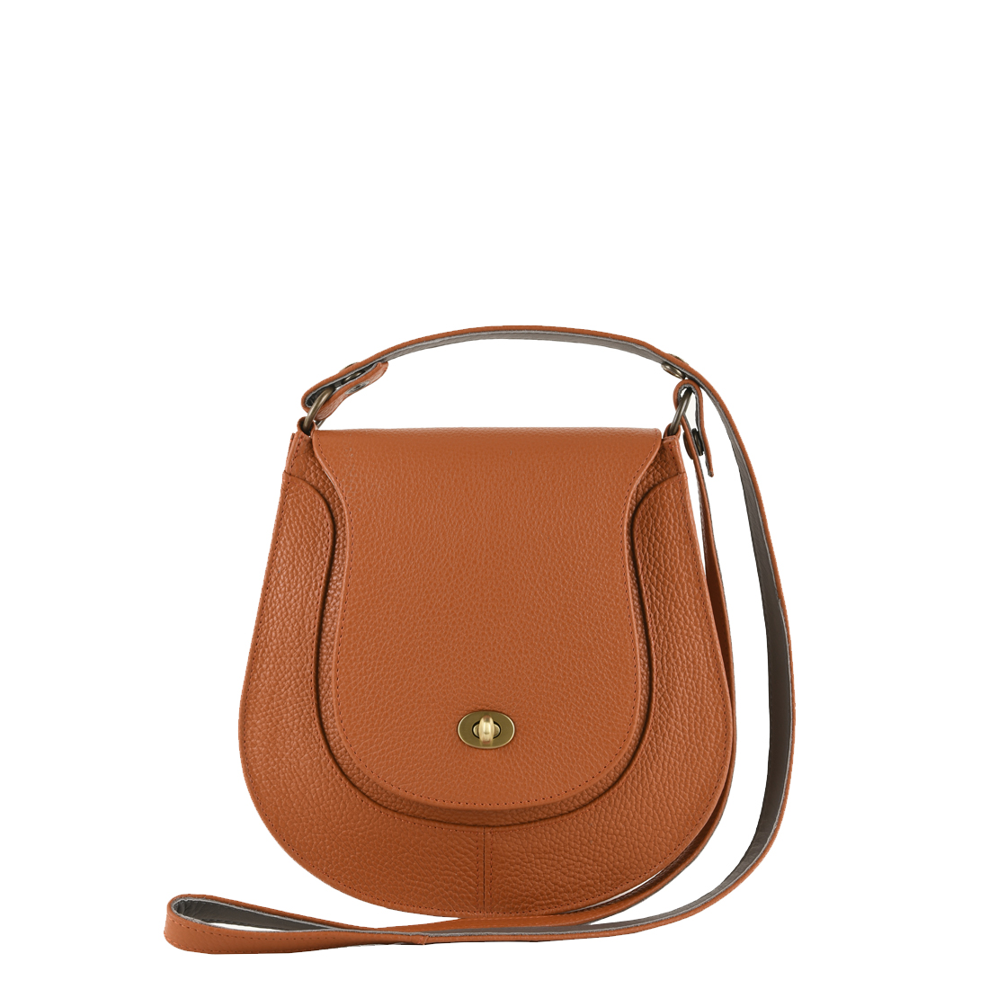 Hattie Burnt Orange Leather Shoulder Bag